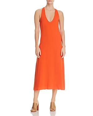 Kenneth Cole Racerback Tank Dress In Mandarin Red
