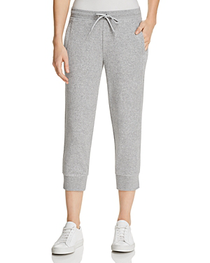 Marc New York Performance Terry Cloth Cropped Jogger Pants In Light Gray Heather