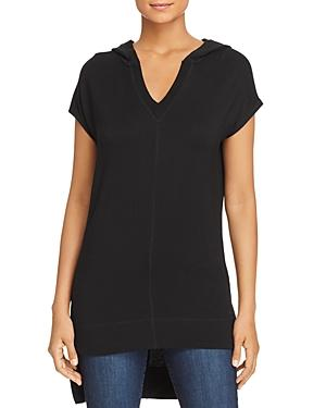 Marc New York Performance Hooded High/low Tunic Top In Black