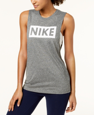 Nike Dry Training Tank Top In Black/pure Platinum