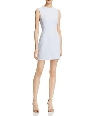 French Connection Sundae Solid Mini Dress In Salt Water