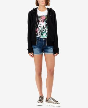 True Religion Jennie Curvy-fit Denim Shorts In Gen Z