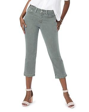 Nydj Released Hem Skinny Capri Jeans In Topiary