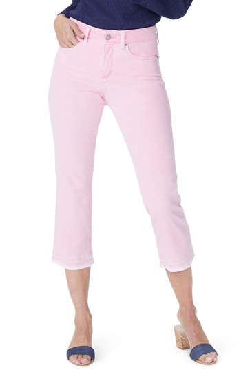 Nydj Released Hem Skinny Capri Jeans In Primrose