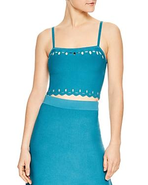 Sandro Sparks Eyelet-detail Bustier Top In Turquoise