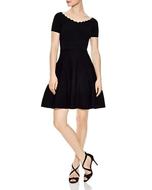 Sandro Meissa Fit-and-flare Dress In Black