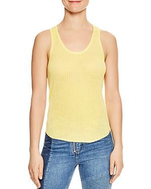 Sandro Jill Knit Tank In Yellow