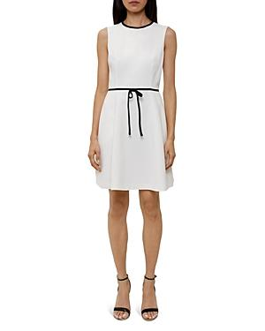 Ted Baker Saydey Bow-waist Dress In Ecru