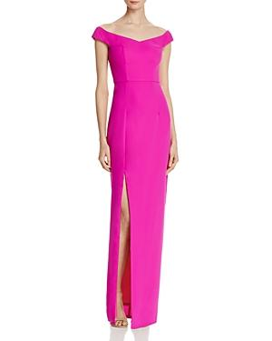 Bariano Off-the-shoulder Gown In Bright Purple