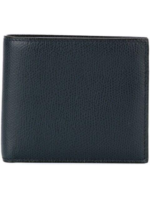 Valextra Leather Bill-fold Wallet - Blue