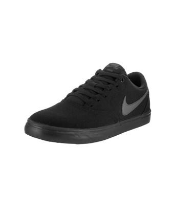 Nike Unisex Sb Check Solar Cnvs Skate Shoe In Black/anthracite