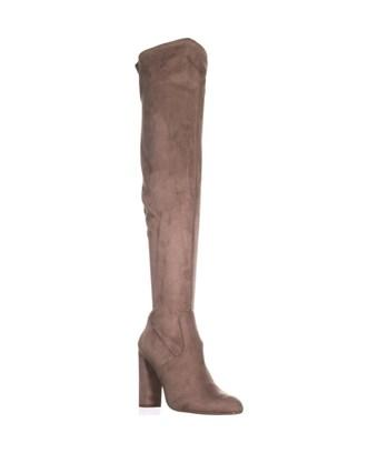 Steve Madden Emotions Over The Knee Boots, Taupe In Ivory