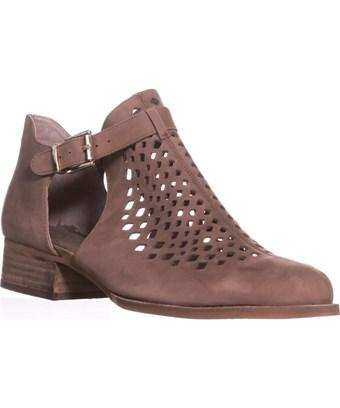 Vince Camuto Cadey Cutout Ankle Booties, Smoke Taupe In Brown