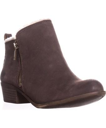 Lucky Brand Basel4 Ankle Booties, Java In Brown