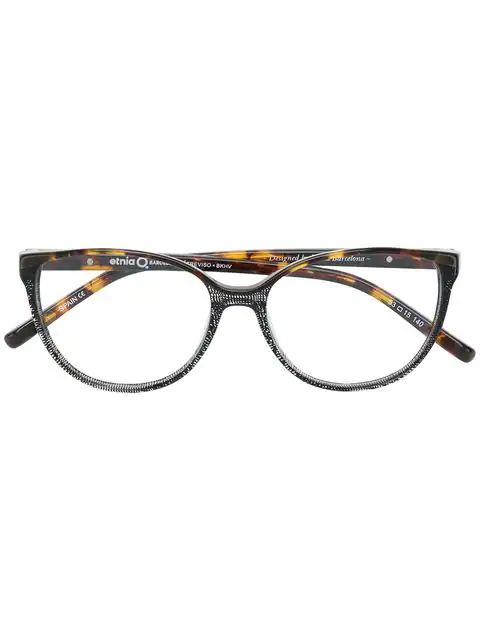 Etnia Barcelona Round Shaped Glasses In Brown