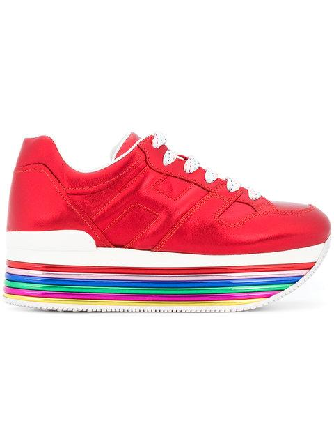 Hogan Platform Sneakers In Red