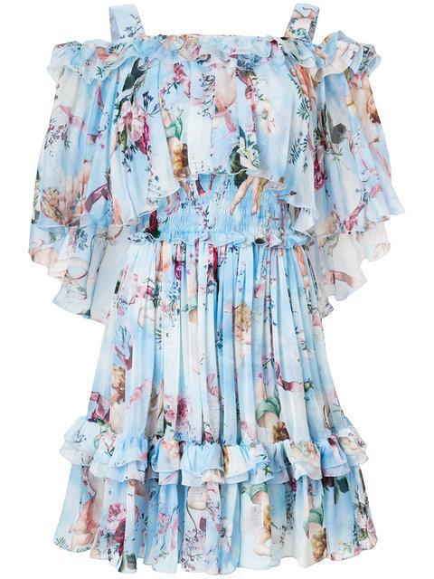 Dolce & Gabbana Cupid Print Dress - Blue