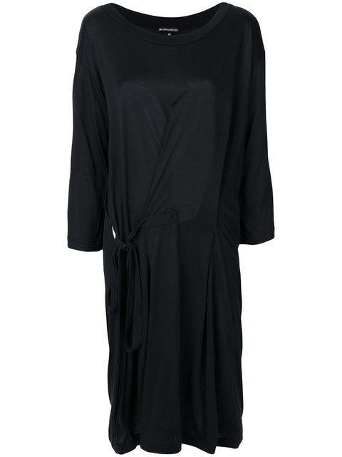 Ann Demeulemeester Tie Waist Dress - Black