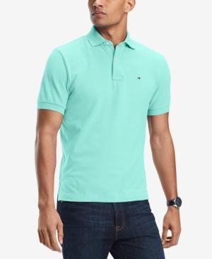 Tommy Hilfiger Men's Big And Tall Solid Ivy Polo In Beach Glass