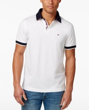 Tommy Hilfiger Men's Big & Tall Sanders Logo Fit Polo In Bright White