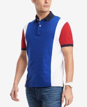 Tommy Hilfiger Men's Harvick Classic Fit Colorblocked Polo In Surf Blue