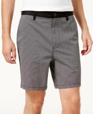 Armani Exchange Men's Geometric Shorts, Created For Macy's In Fancy White