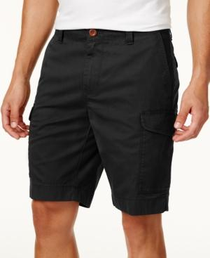 """Tommy Hilfiger Men's 10"""" Cargo Shorts, Created For Macy's In Deep Knit Black"""
