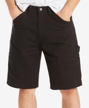Levi's Men's Loose Fit Stretch Carpenter Shorts In Mineral Black