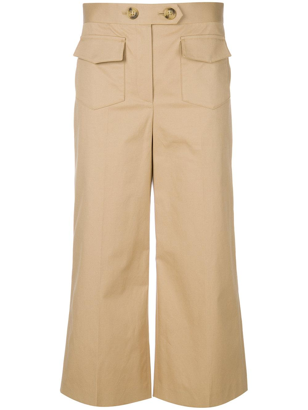 Red Valentino Cropped Wide-leg Trousers