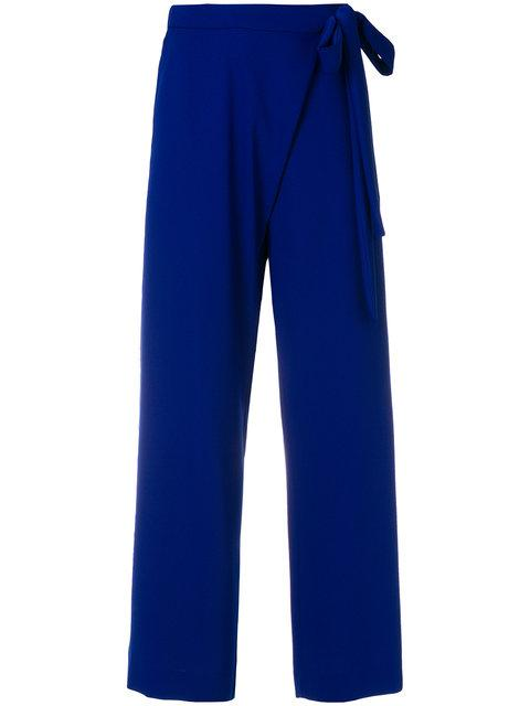 P.a.r.o.s.h. Tie Waist Trousers In Blue