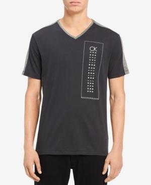 Calvin Klein Jeans Men's Graphic-Print T-Shirt In Light Grey Heather