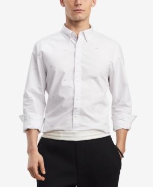 Tommy Hilfiger Men's Vettel Custom-fit Car Critter-print Shirt, Created For Macy's In Bright White