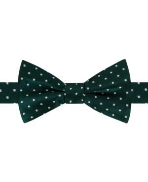 Tommy Hilfiger Men's Dot Pre-tied Silk Bow Tie In Hunter