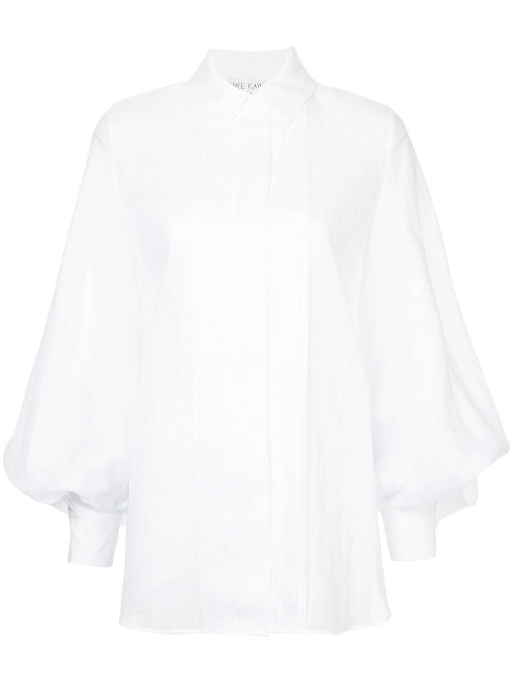 Dice Kayek Pleated Front Shirt