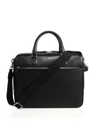 Montblanc Leather Document Case In Black