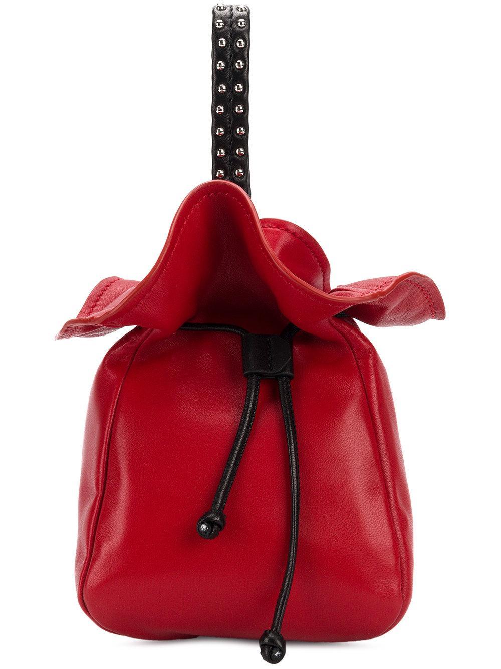 3.1 Phillip Lim Ray Mini Glove Pouch - Red
