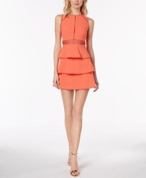 Rachel Zoe Vanessa Ruffled Fit & Flare Dress In Nectarine