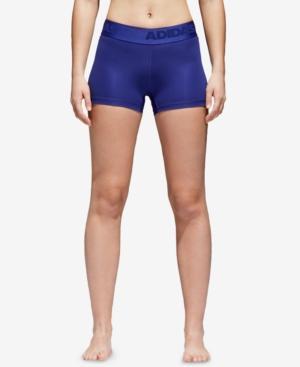 Adidas Originals Adidas Alphaskin Climacool Shorts In Real Purple