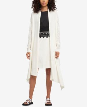 Dkny Long Waterfall Cardigan, Created For Macy's In Ivory