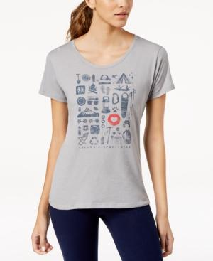 Columbia Camp Stamp Active-fit Top In Charcoal Heather