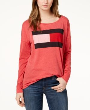 Tommy Hilfiger Sport Logo-print T-shirt, Created For Macy's In Scarlet