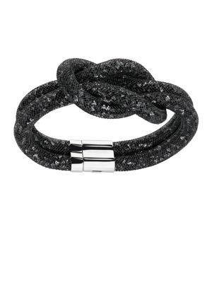 Swarovski Stardust Knotted Bracelet In Silver