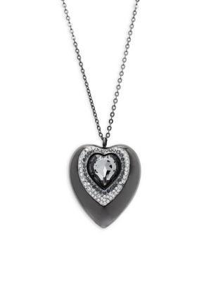 Swarovski Active Crystals Heart 8gb Usb Pendant Necklace In Silver