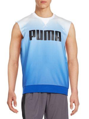 Puma OmbrÉ Graphic Sweatshirt In White - Blue