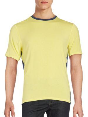 Revo Two-toned Short Sleeve T-shirt In Yellow