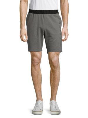 Calvin Klein Logo Drawstring Shorts In Medium Grey Heather
