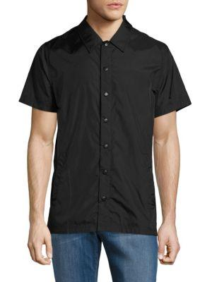 Publish Solid Point-collar Shirt In Black