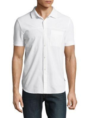 French Connection Hybrid Cotton Casual Button-down Shirt In White