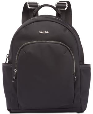 Calvin Klein Tanya Signature Backpack In Black/Silver