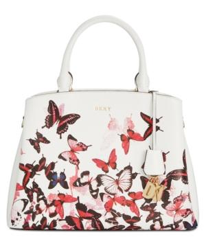Dkny Paige Large Satchel, Created For Macy's In White Multi
